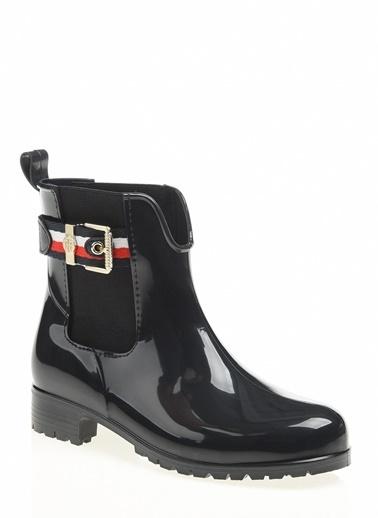 Tommy Hilfiger Kadın Corporate Belt Rain B Yağmur Çizmesi FW0FW03329 Lacivert